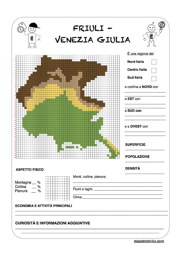 Cartina Fisica Del Friuli Venezia Giulia.Friuli Venezia Giulia Maestro Mirko