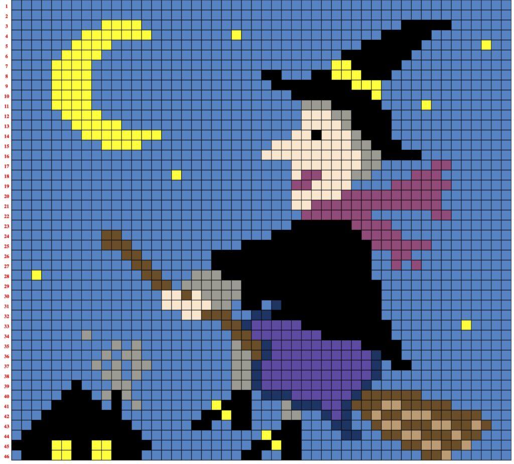 La Befana pixel art